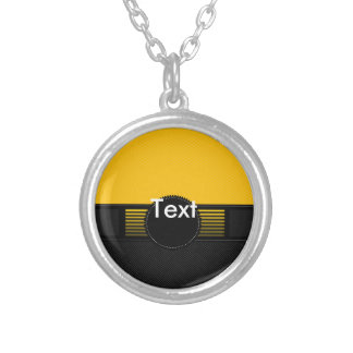 Fancy Monogram Round Pendant Necklace