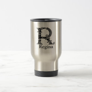 Fancy Monogram: Regina Stainless Steel Travel Mug