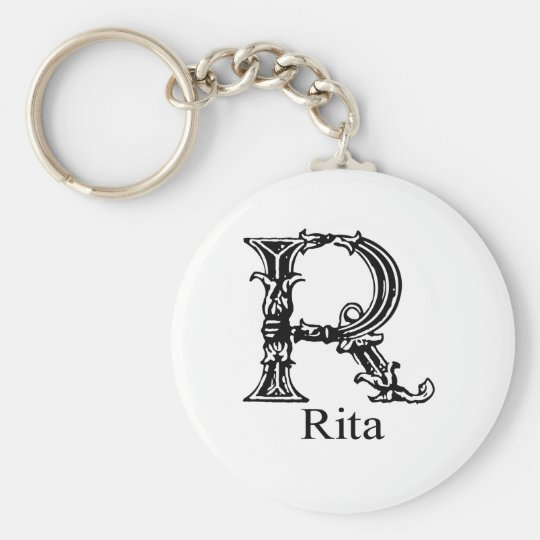 Fancy Monogram: Rita Key Ring