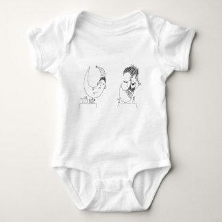 fancy moon baby bodysuit