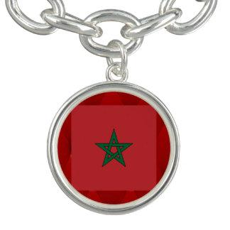 Fancy Morocco Flag on red velvet background