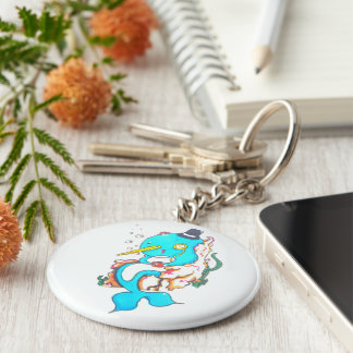 Fancy Mr Narwhal Key Ring