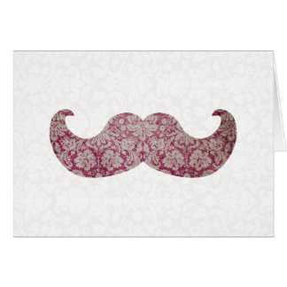 Fancy mustache greeting cards