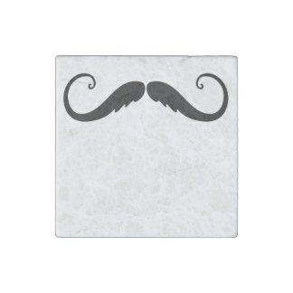 Fancy Mustache Stone Magnet