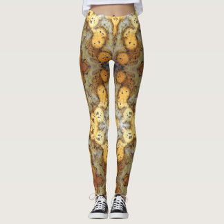 Fancy Natural Leopard Skin Rock Photo Designed Leggings