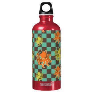 Fancy Octopus Checkered Pattern Liberty Bottle SIGG Traveller 0.6L Water Bottle