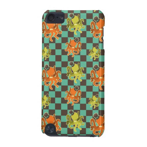 Fancy Octopus Checkered Pattern Speck Case iPod Touch 5G Case