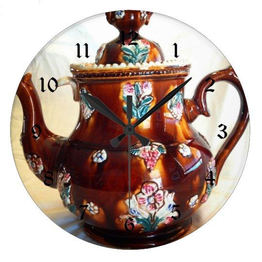 Fancy Ornate Antique English Teapot Coffee Pot Large