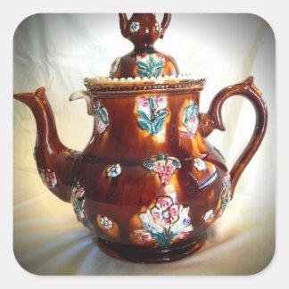 Fancy Ornate Antique English Teapot Coffee Pot Sticker