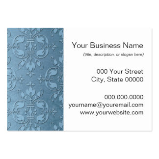 Fancy Pale Blue Damask Business Card Template