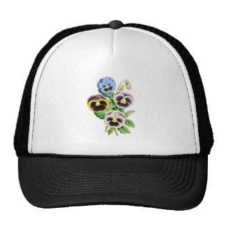 Fancy Pansies Vintage Illustration Hats