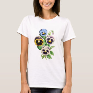 Fancy Pansies Vintage Illustration T-Shirt