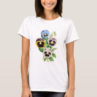 Fancy Pansies Vintage Illustration T-Shirt