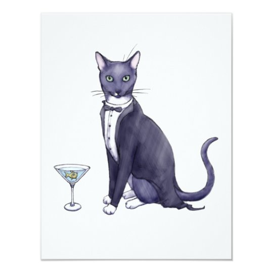 Fancy Party Cat Invitation