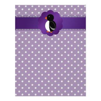 Fancy penguin purple diamonds flyer