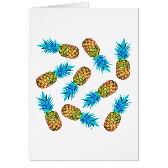 Fancy pineapples card