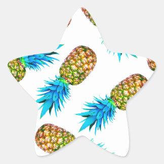 Fancy pineapples star sticker