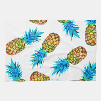 Fancy pineapples tea towel