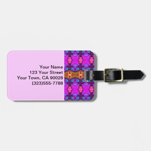 Fancy Pink Abstract Luggage Tag