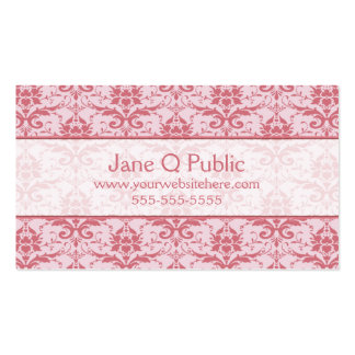 Fancy Pink and Mauve Damask Pack Of Standard Business Cards