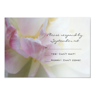 Fancy Pink and White Tulip Wedding RSVP Card 9 Cm X 13 Cm Invitation Card