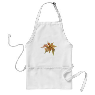 Fancy Pink and Yellow Poinsettia Apron