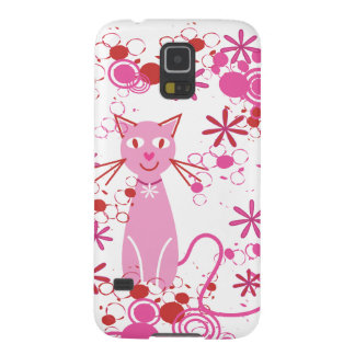Fancy Pink Cat Cases For Galaxy S5