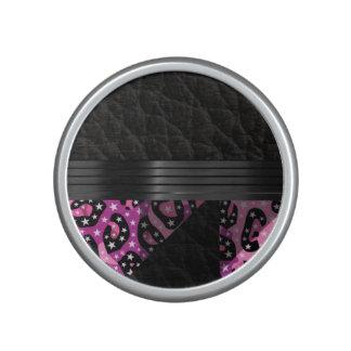 Fancy Pink Cheetah Speaker