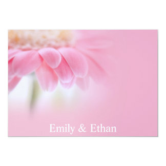 Fancy Pink Daisy Wedding Invitation
