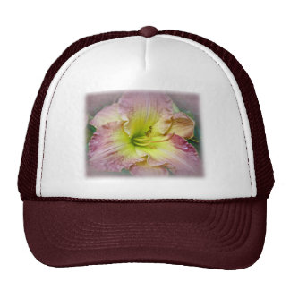 Fancy Pink Daylily Blossom Hat