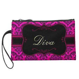 Fancy Pink Diva Wristlet