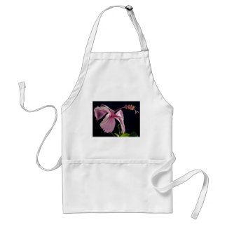 Fancy Pink Flowers Blossoms Shower Wedding Bridal Aprons
