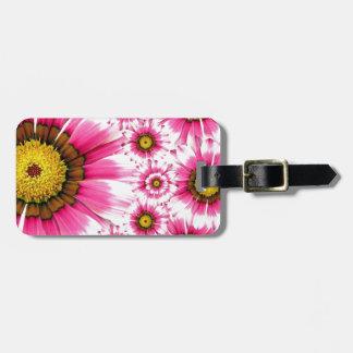 Fancy Pink Flowers Bag Tags