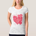 Fancy Pink Girly Hearts Abstract Art Shirts