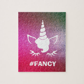 #Fancy Pink Glitter Puzzle