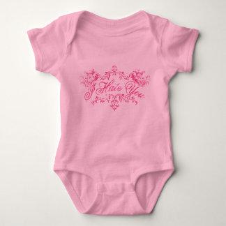 Fancy Pink I Hate You Baby Bodysuit