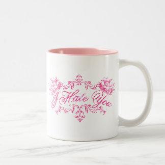 Fancy Pink I Hate You Coffee Mug