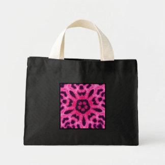 Fancy Pink Leopard Flower Kaleidoscope Tiny Tote Bag