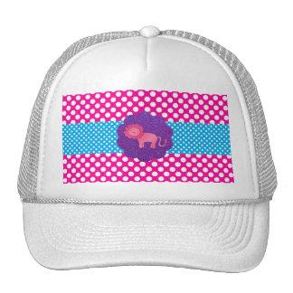 Fancy pink lion mesh hats