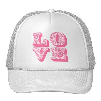 Fancy Pink Love Trucker Hats