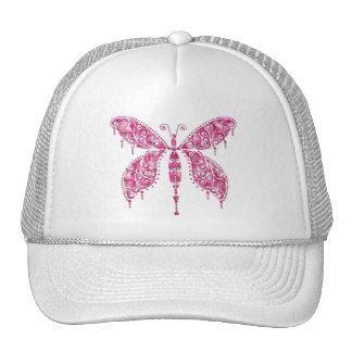 Fancy Pink Multicolored Butterfly Trucker Hat