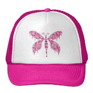 Fancy Pink Multicolored Butterfly Mesh Hats