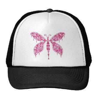Fancy Pink Multicolored Butterfly Trucker Hats