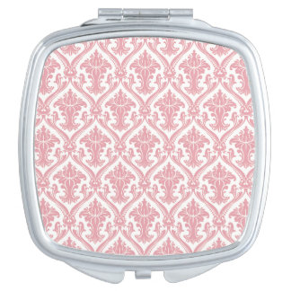 Fancy Pink Pattern Compact Mirror
