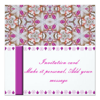 Fancy Pink Patterned Invitation Card