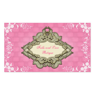 Fancy Pink Shabby Chic Botique Business Cards