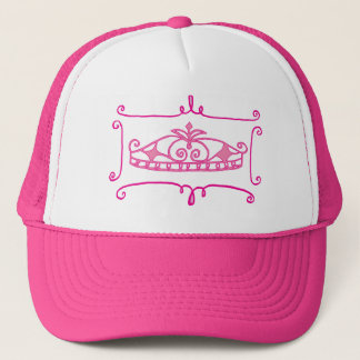fancy pink tiara cap