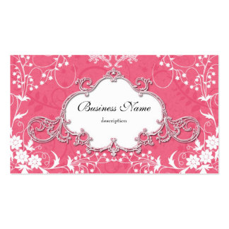 Fancy Pink Victorian Style Vintage Business Card