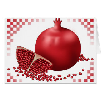 Fancy Pomegranate Greeting Card