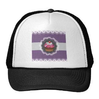 Fancy Purple Cupcake Mesh Hats